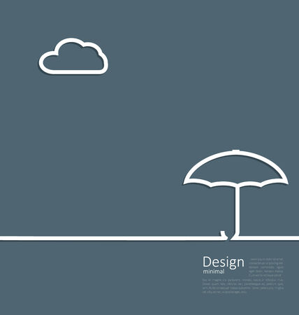 weatherproof: Illustration umbrella protection it weather the concept of safety and security, web page design, template corporate style  - vector