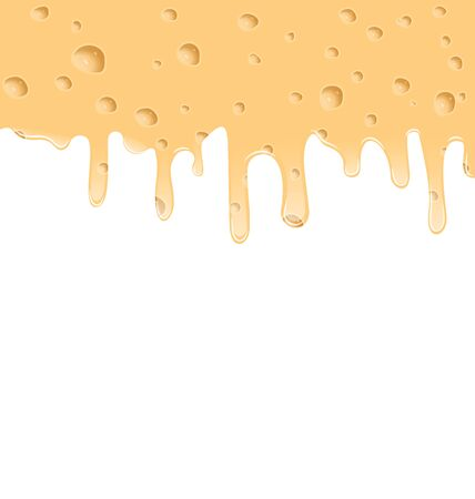 melted cheese: Illustration melted cheese texture with holes, space for your text - vector