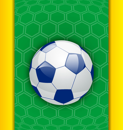 soccer: Illustration abstract brazilian background with ball - vector Stock Photo