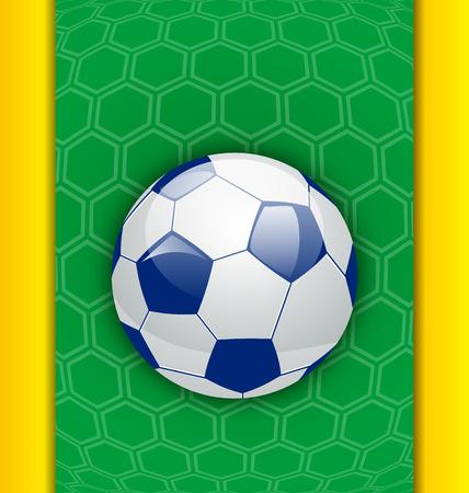 banni�re football: Illustration abstrait br�silien avec le ballon - vecteur Banque d'images