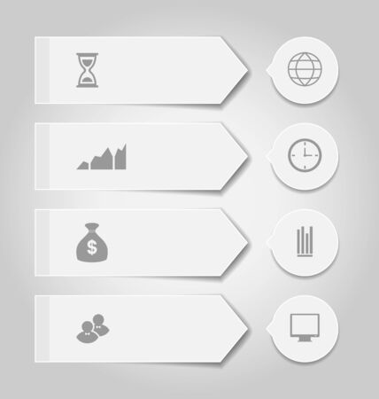 infochart: Illustration set modern business banners with infographic icons - vector