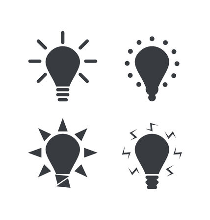 derivation: Icon set process of generating ideas to solve problems, birth of the brilliant ideas - vector