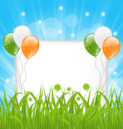 st patricks day: Illustration happy St Patricks day celebration card - vector Stock Photo