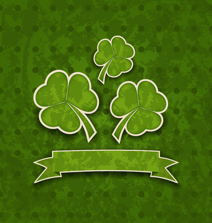 st patricks day: Illustration holiday background with clovers for St. Patricks Day - vector Stock Photo