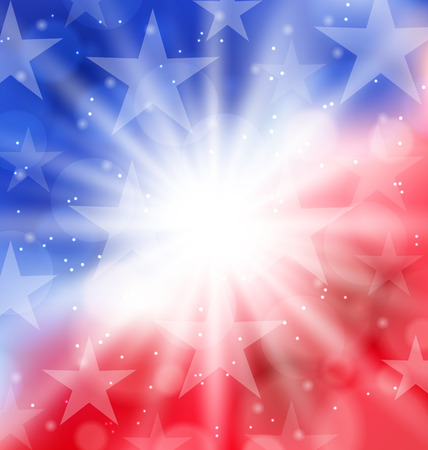 Illustration happy 4th of July card with place for text - vector Stock Photo