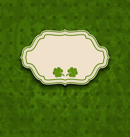 st patricks day: Illustration holiday card with clovers for St. Patricks Day - vector