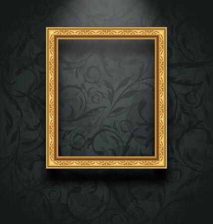 Illustratie omlijsting op bloemen textuur muur - vector Stockfoto