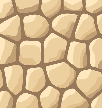 flagstone: Illustration texture of stones, stone wall background - vector