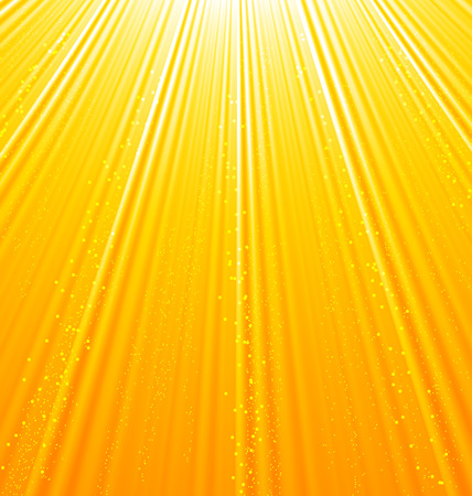 flames background: Illustration abstract orange background with sun light rays - vector