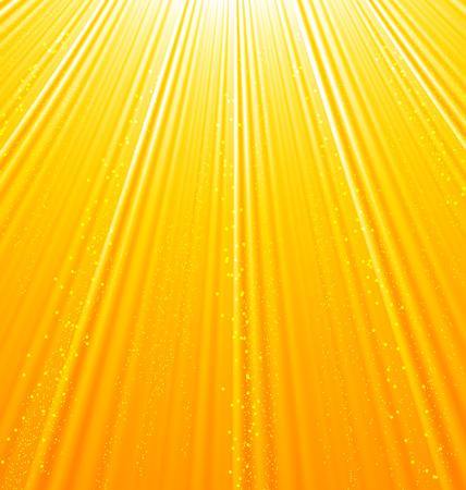 orange sky: Illustration abstract orange background with sun light rays - vector