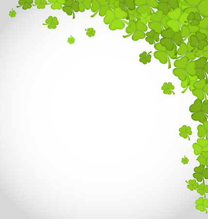 shamrock clovers: Illustration greeting background with shamrocks for St. Patricks Day, copy space for your text - vector Illustration