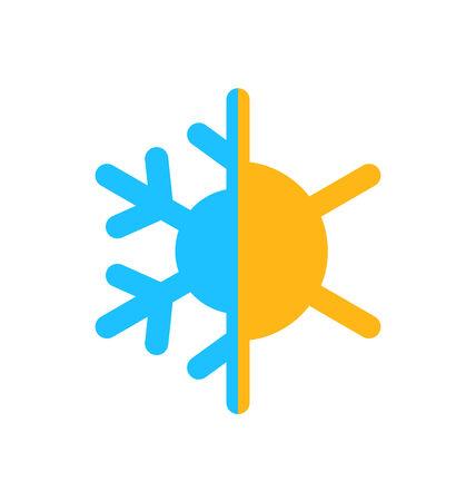 Illustration logo of symbol climate balance, isolated on white background - vector