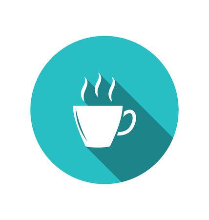 minimal style: Illustration coffee or tea cup, trendy flat minimal style - vector Stock Photo
