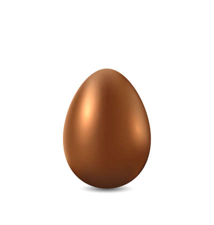 ostern: Illustration Easter chocolate egg isolated on white background - vector