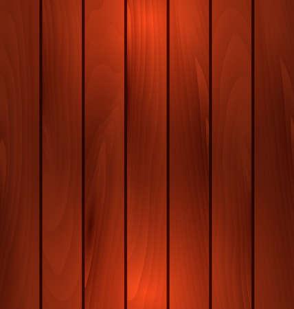 mahogany: Illustration dark wooden texture, plank background with light - vector