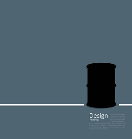 bbl: Illustration black oil barrel roll, template corporate style