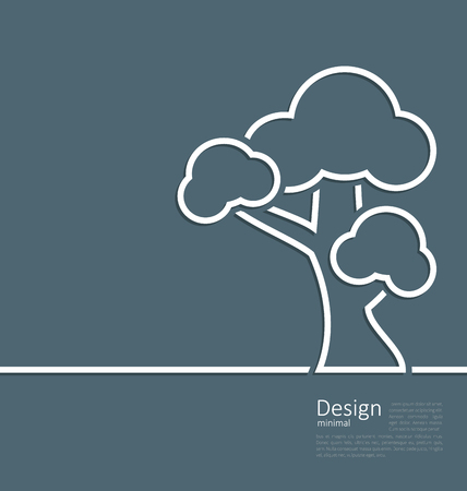 webpage: Illustration tree standing alone symbol, design webpage, logo template corporate style layout - vector