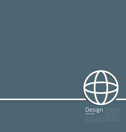 globe logo: Illustration logo of earth or globe, or network structure, minimal flat style line - vector Illustration
