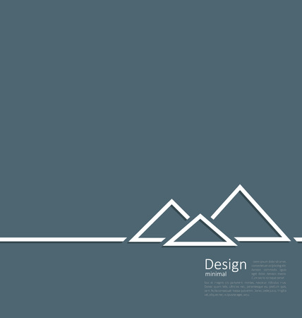 cheops: Illustration logo of egyptian pyramid, symbol of tourism, minimal flat style line - vector