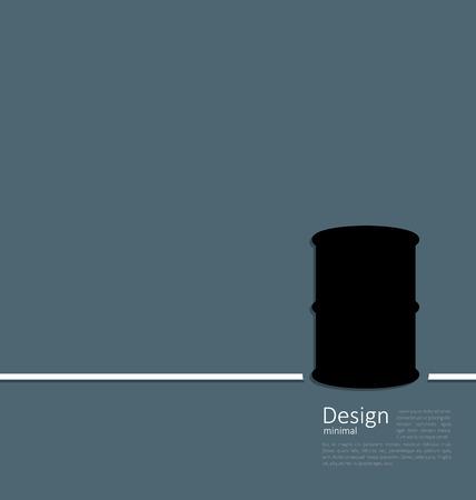 bbl: Illustration black oil barrel roll, logo template corporate style - raster