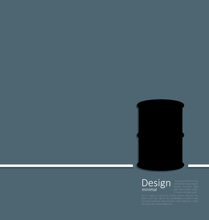 Illustration black oil barrel roll, logo template corporate style - raster