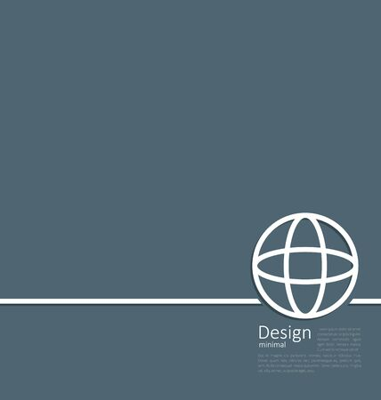 transnational: Illustration of earth or globe, or network structure, minimal flat style line