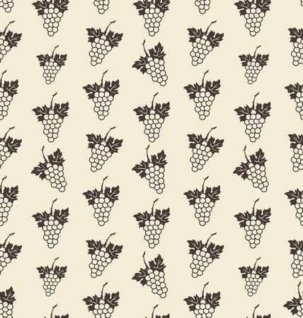 Illustration Seamless Texture with Bunch of Grape, Vintage Pattern illustration