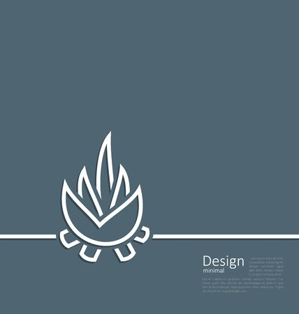 fire wood: Illustration symbol of bonfire Stock Photo