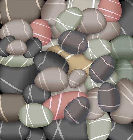 pebbly: Illustration sea pebbles texture