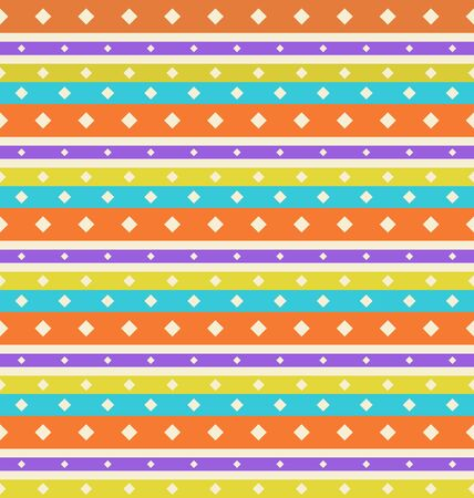 Illustration Seamless Vintage texture with Stripes and Circles, Periodic  Background - Vector illustration