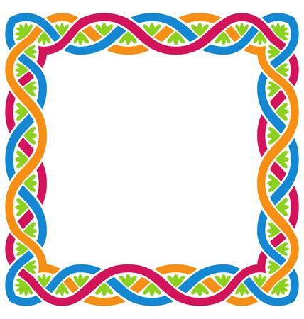 weaving: Illustration Abstract Celtic Weaving Framework, Isolated on White Background - Vector Illustration