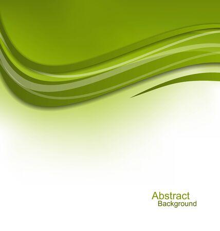 raster: Illustration Green Wavy Background Design Template  raster Stock Photo