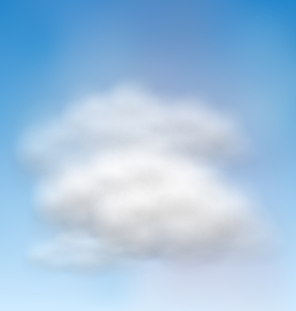 fluffy clouds: Illustration Background Blue Sky Fluffy Clouds  raster