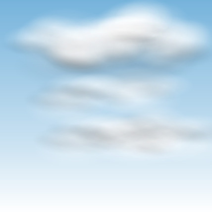 fluffy clouds: Illustration Background Blue Sky Fluffy Clouds - raster Stock Photo