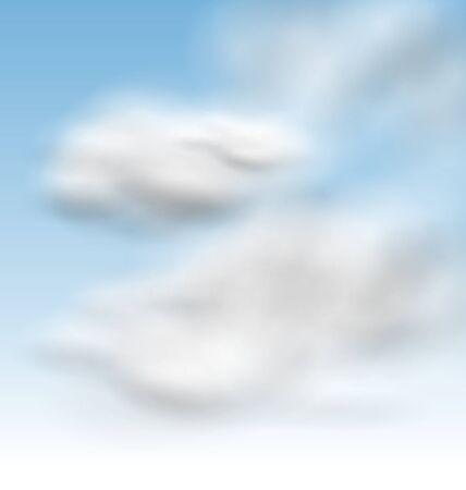 fluffy: Illustration Background Blue Sky Fluffy Clouds - raster Stock Photo
