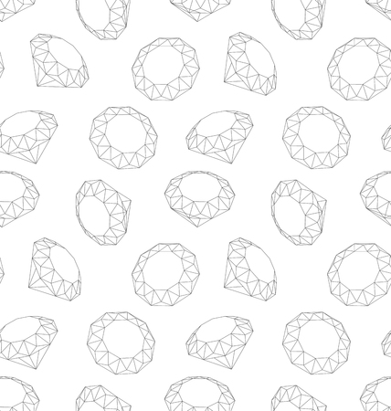 faceting: Illustration Seamless Texture of Three-dimensional Diamonds, Endless Background - Vector