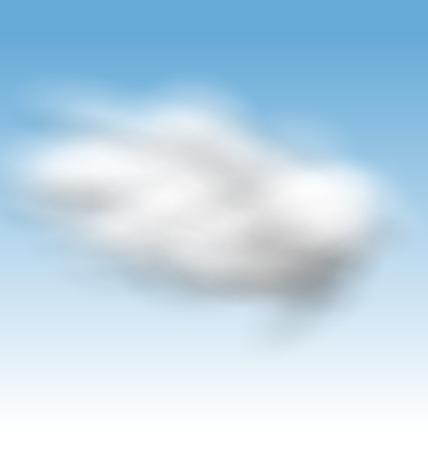 fluffy: Illustration Background Blue Sky Fluffy Clouds - vector Illustration
