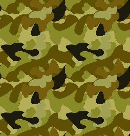 camo: Illustration Seamless Woodland Camo Pattern, Khaki Wallpaper - Vector Illustration