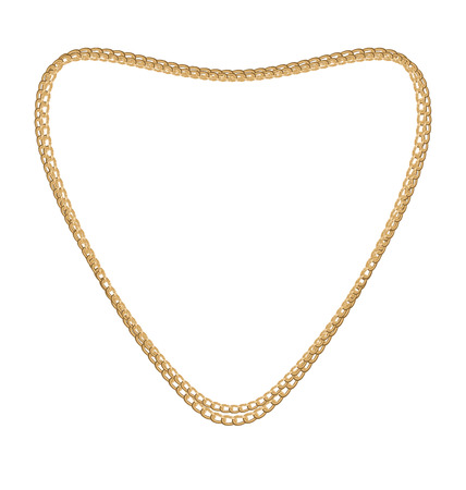 necklet: Illustration Jewelry Golden Chain of Heart Shape