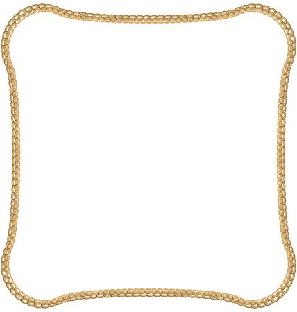 necklet: Illustration Golden Chain Isolated on White Background