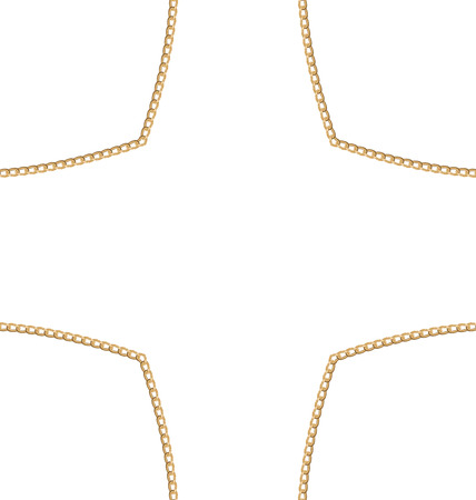 necklet: Illustration Golden Chain of Abstract Shape