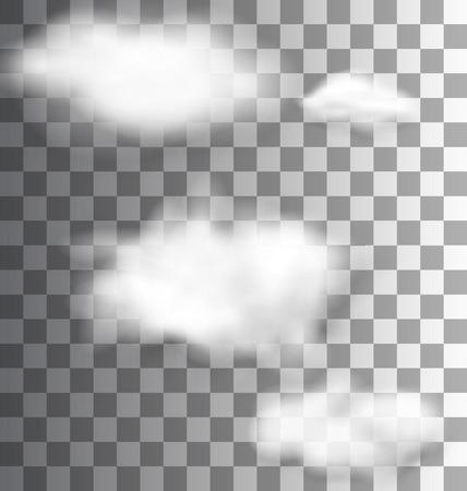 Ilustracja zestaw Fluffy Przezroczyste Chmury