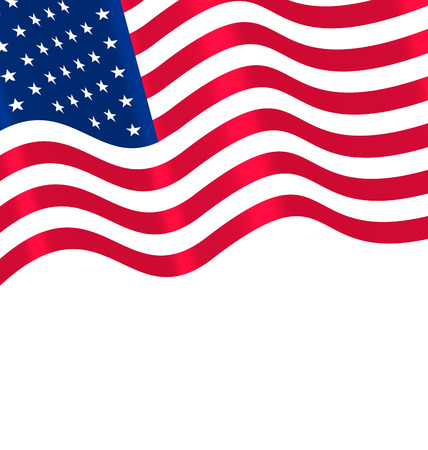 us flag: Flags USA Waving Wind and Ribbon for Independence Day 4th Patriotic Symbolic Vintage Decoration for Holiday or Celebration Backgrounds