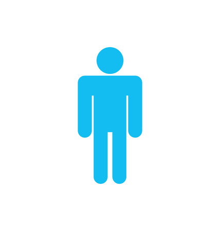 raster sex: Illustration Flat icon of Male Isolated on White Background - raster