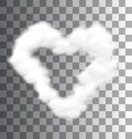 cloud shape: Illustration Fluffy Cloud Shape Heart Love Symbol Transparent - raster