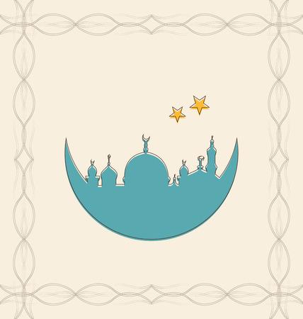 raster: Illustration Islamic Card for Ramadan Kareem - raster