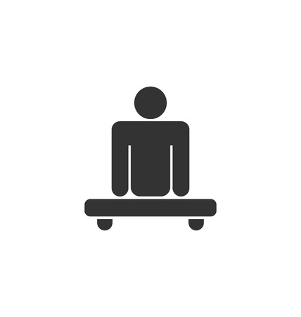 limited access: Pictogram of Amputee in Wheelchair Illustration