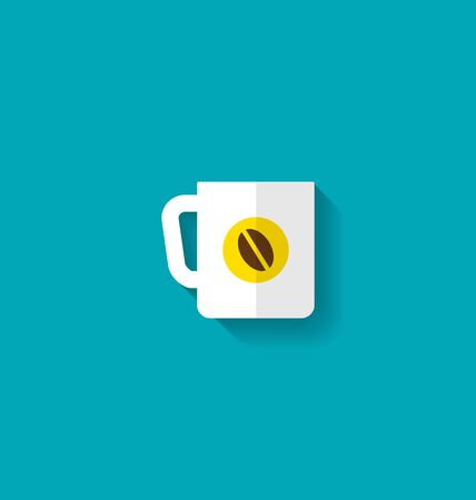 encasement: Flat Icon of Cup of Coffee