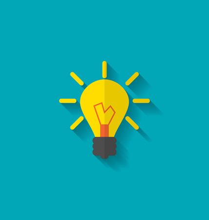 Flat Icon of Lamp Illustration
