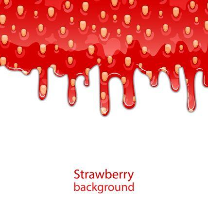 strawberry jam: Texture of Strawberry Jam on White Background